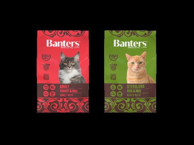 Сухие корма Banters для кошек