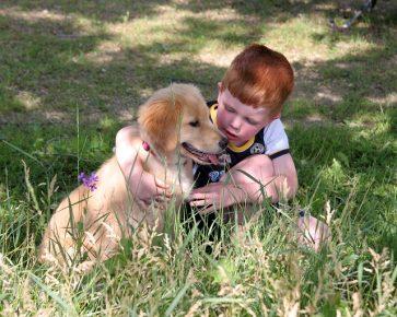 Собака с ребёнком