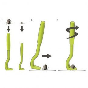 Крючок Tick Twister Uniclean