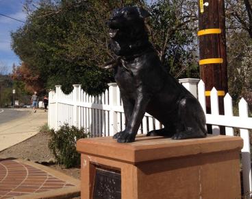 Бронзовый памятник собаке