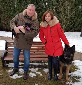 Рогозин с женой и их питомцами