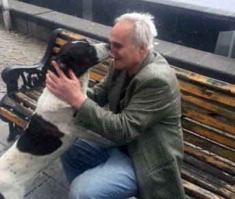 Хозяин и собака встретились