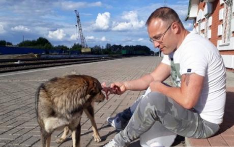 Алессандро с собакой