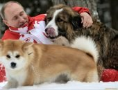 Путин со своими собаками