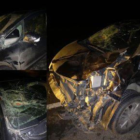 Honda Fit после аварии