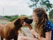 Девочка и собака