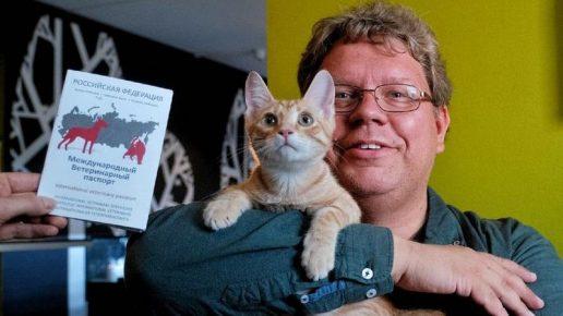 Киммо Пуунена с котёнком