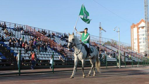 Конь Полковник на стадионе