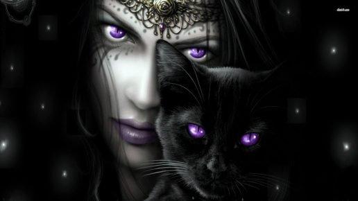 Ведьма и чёрный кот