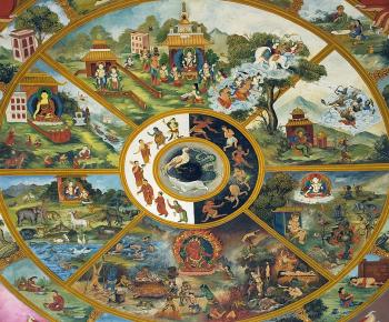 Колесо Сансары, круговорот жизни и перерождений