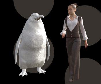 пингвин ростом с человека