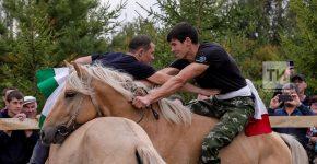 Татарская борьба на лошадях